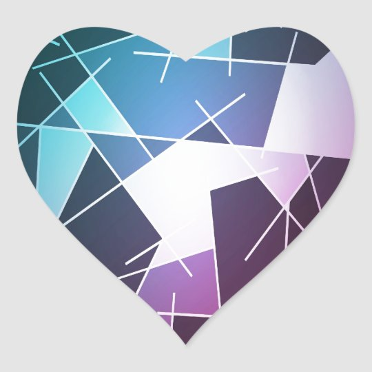 Abstract bright colorful background heart sticker