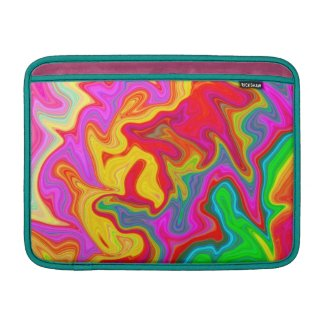 Abstract bright colourful pattern sleeves for MacBook air