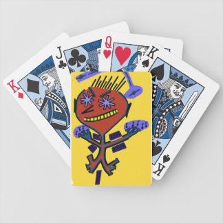 abstract bright eyed playing cards