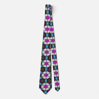 Abstract bright floral pink pattern No12 Neck Tie
