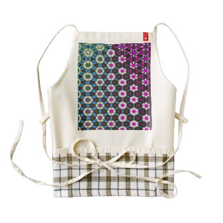 Abstract bright floral pink pattern No12 Zazzle HEART Apron
