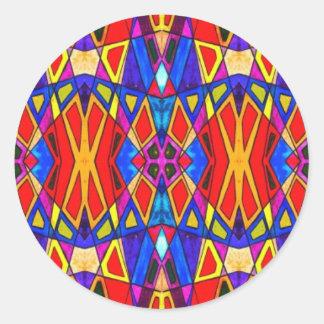 Abstract Bright Glaze Round Stickers
