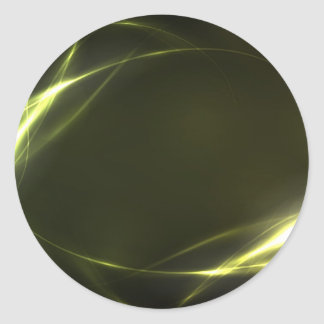 Abstract Bright Green Art Classic Round Sticker
