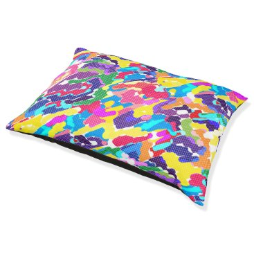 Art Themed Abstract bright multicolored pet bed