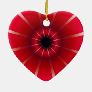 Abstract Bright Pattern Ceramic Ornament