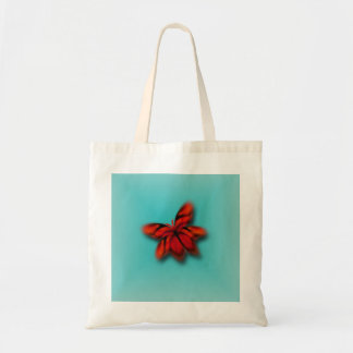 Abstract Bright Red Butterfly Tote Bag
