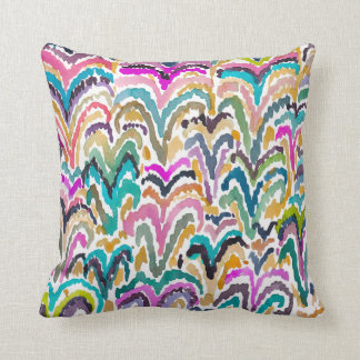 Abstract Bright Watercolor Sprouting Pattern Pillow