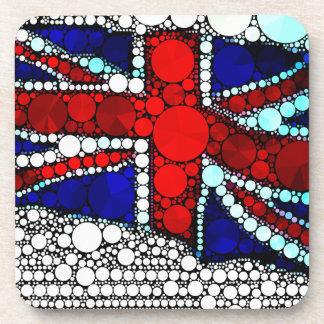 Abstract British Flag Drink Coaster