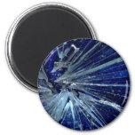 Abstract Broken glass Fridge Magnet
