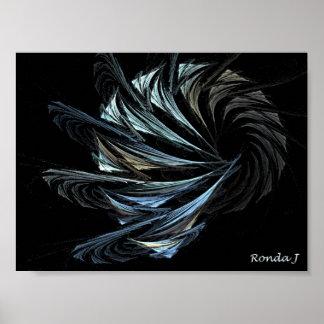 abstract broken glass poster