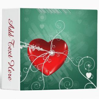 Abstract Broken Heart 3 Ring Binders