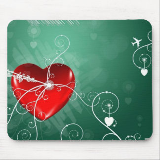 Abstract Broken Heart Mouse Pad
