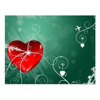 Abstract Broken Heart Postcard