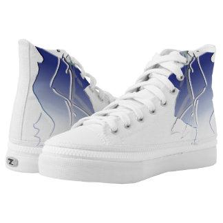 abstract – broken sky High-Top sneakers