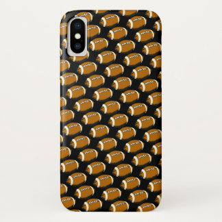 Abstract Brown and Black Footballs iPhone X Case