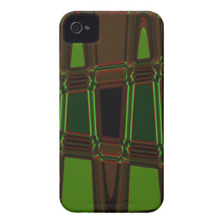Abstract Brown and Green Blackberry Case