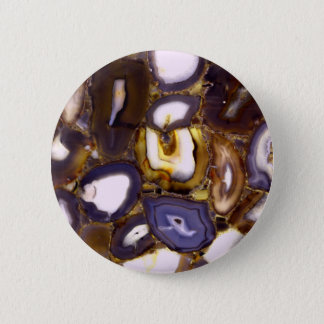 Abstract brown and purple agates button
