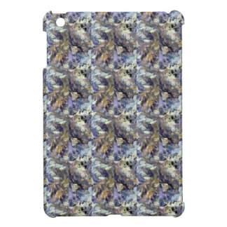 Abstract Brown And Purple Pattern iPad Mini Cover
