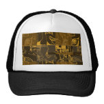 Abstract brown design hat