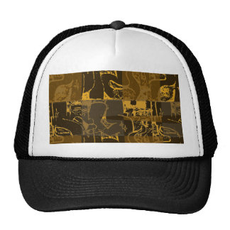 Abstract brown design trucker hat