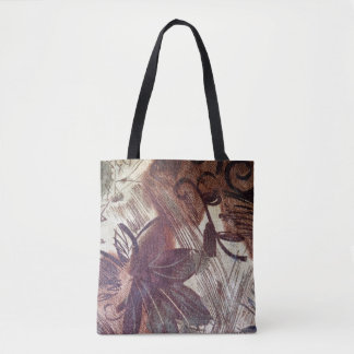 Abstract Brown Floral Design 1 Tote Bag
