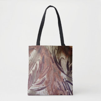 Abstract Brown Floral Design 2 Tote Bag