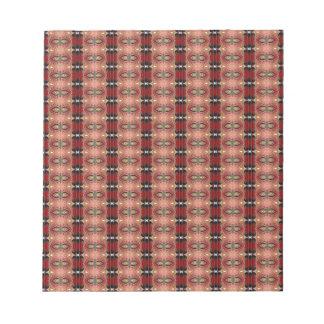 Abstract Brown Geometric Art Pattern Scratch Pads