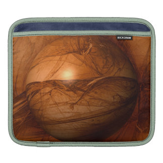 Abstract Brown Globe Sleeve For iPads