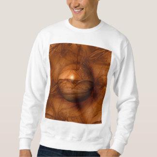 Abstract Brown Globe Sweatshirt