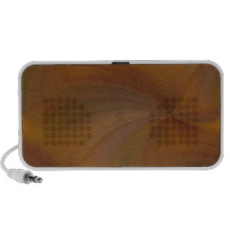 Abstract Brown Swirl Doodle Speakers