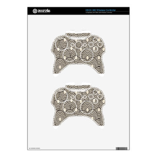 Abstract brown swirls background design xbox 360 controller skins