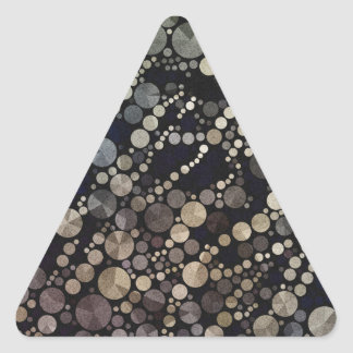 Abstract Brown Triangle Sticker