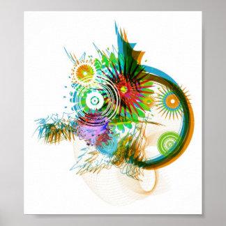 Abstract Brush Design Print