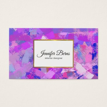 Abstract Brush Strokes texure. Business Card