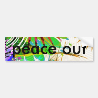 abstract_brushes_2, paz hacia fuera etiqueta de parachoque
