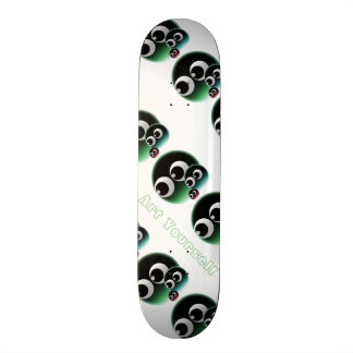 Abstract bubble family skate board