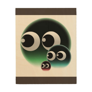 Abstract bubble family wood wall art