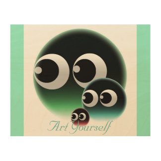 Abstract bubble family wood wall decor