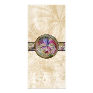 Abstract Bubble Mandala With Ribbon Rack Card