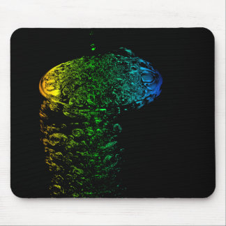 Abstract bubbles and glas, mouse pad