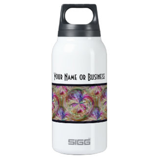 Abstract Bubbly Pattern Art Personalized 10 Oz Insulated SIGG Thermos Water Bottle
