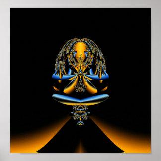 Abstract Buddha Fractal Poster