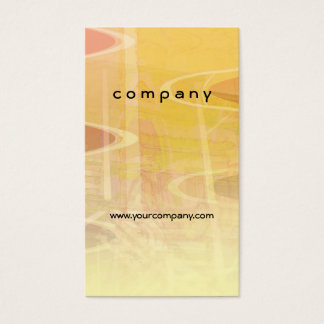Abstract Building in Warm Tones Business Card