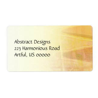 Abstract Building in Warm Tones Label