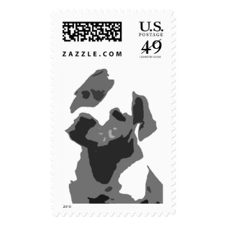 Abstract Bulldog Postage Stamps