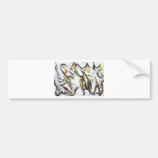 Abstract Bullfight (abstract animal painting) Bumper Sticker