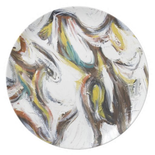 Abstract Bullfight (abstract animal painting) Dinner Plates