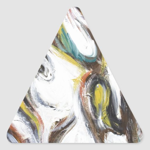 Abstract Bullfight (abstract animal painting) Triangle Sticker