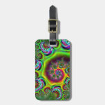 Abstract Bulls-eye Pattern Tags For Luggage