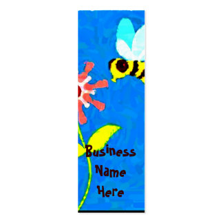 abstract bumble bee & flower bookmark business car mini business card